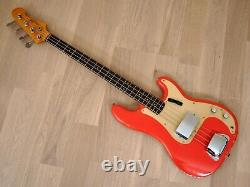 1959 Fender Precision Bass Pre-CBS Vintage Bass Gold Guard Fiesta Red with Case