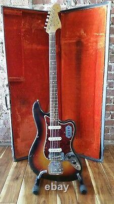 1964 Fender Bass VI Electric Guitar with OHSC 100% Original
