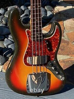 1966 Fender Jazz Bass last of the'65 Unbound Dot Necks all Pre-CBS features