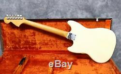 1966 Fender Mustang Olympic White Ohsc Andy Baxter Bass & Guitars