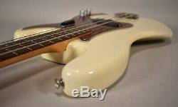 1966 Fender Precision Bass Olympic White Vintage P-Bass Electric Guitar withOHSC