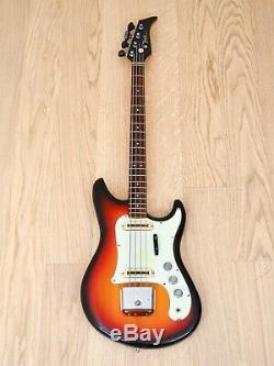 1966 Yamaha SB-2 Vintage Electric Bass Guitar Short Scale 100% Original with Case