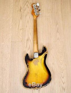 1967 Fender Jazz Bass Vintage Electric Bass Guitar Sunburst withCase