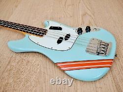 1970 Fender Competition Mustang Bass Vintage Electric Bass Gulf Colors with Case