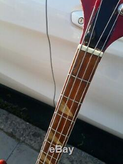 1970's Hondo Stereo Bass Guitar Sunburst Finish Good Working Order