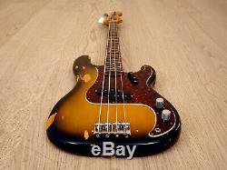 1971 Fender Precision Bass Vintage Electric Bass Guitar Sunburst with Case