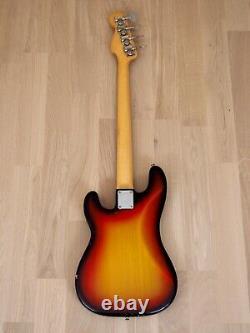 1971 Fender Precision Bass Vintage Electric Bass Guitar Sunburst with G&G Case