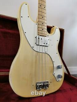 1972 Fender Telecaster Bass with Maple Fretboard 70s Vintage Blonde humbucker