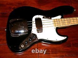 1974 Fender Jazz Bass Black