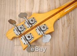 1976 Rickenbacker 4001 Vintage Electric Bass Guitar Mapleglo with Case, 4003
