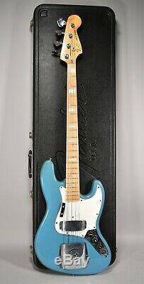 1978 Fender Jazz Bass Maui Blue International Series Vintage Bass Guitar withOHSC