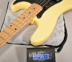 1978 Fender Precision Bass Olympic White Vintage Electric Bass Guitar withOHSC
