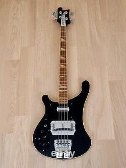 1978 Rickenbacker 4001 Vintage Bass Jetglo Left Handed with Toaster & Horseshoe