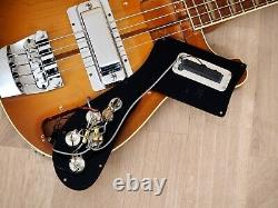 1979 Rickenbacker 4001 Autumnglo Vintage Electric Bass Guitar, Montezuma Brown