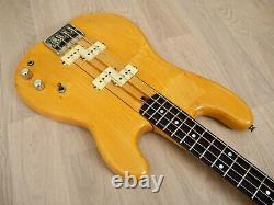 1980s Fernandes BO-60 Vintage Neck Through Double P Bass Natural Japan