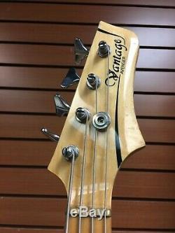 1980s Vantage Avenger Electric Bass Guitar Black Matsumoku Factory Japan MIJ