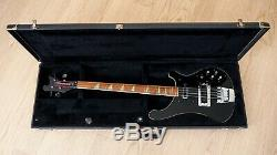 1981 Rickenbacker 4001 Vintage Electric Bass Guitar Jetglo with Case, 4003