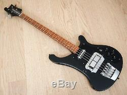 1982 Rickenbacker 4001S Vintage Electric Bass Guitar Jetglo, Horseshoe & Toaster