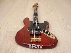 1993 Fender Jazz Bass JBG-70 MBR Ash Gold Hardware Electric Bass Guitar Japan