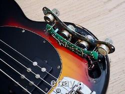 1995 Ernie Ball Music Man StingRay 4 H Electric Bass Guitar Sunburst withohc, USA