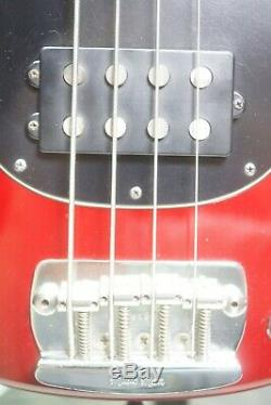 1997 Ernie Ball Music Man Stingray Electric Bass Guitar Red with Hardshell Case