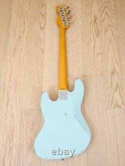 1997 Fender Custom Shop'62 Jazz Bass Stack Knob Cunetto Relic Sonic Blue