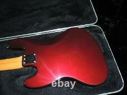1998 Fender 5-String Jazz Bass Standard Bass Guitar MIM Midnight Wine withHSC