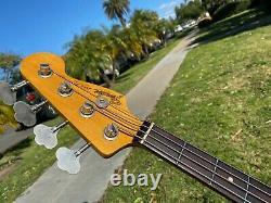 1998 Fender Custom Shop Stack Knob Jazz Bass Fiesta Red Cunetto 1960's Relic