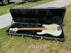 2001 Music Man Stingray 5H 5 String Piezo White Bass Guitar