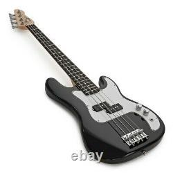 3/4 LA Bass Guitar + 15W Amp Pack Black