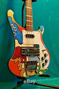 AMAZING Custom Hand Painted Rickenbacker 4003 Electric Bass Guitar 4001