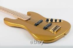 Allen Eden Guitars Disciple 5 Standard Gold Sparkle with Case