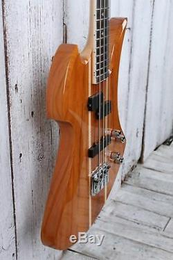 BC Rich Heritage Classic Mockingbird Bass Koa 4 String Electric Bass Guitar