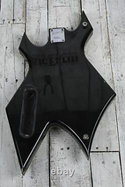 BC Rich Warlock Electric Bass Guitar Body w Humbucker Pickup and Backplate Black