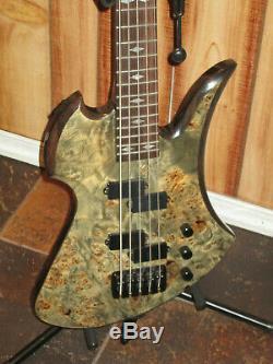 B. C. Rich Mockingbird Plus 5 String Electric Bass Guitar