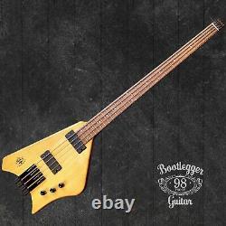 Bootlegger Guitar Ace Headless Bass With OHSC Custom Case
