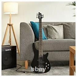Chicago 5 String Bass Guitar by Gear4music Black
