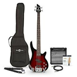 Chicago Bass Guitar + 15W Amp Pack Trans Red Burst