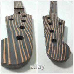 Complete No-Soldering 5-String Jaza Bass Guitar DIY Kit, All Technical ZebraWood