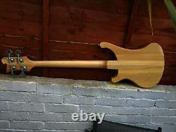 Custom 4 String neck through Bass Guitar With Checkerboard Binding