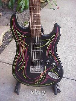Custom Built, Short Scale, Pin Striped 6-String Bass or Baritone Guitar/