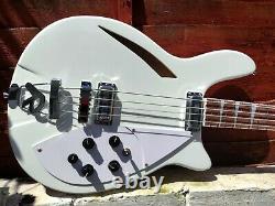 Custom Semi hollow Bass Guitar 34 inch scale