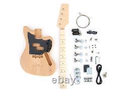 DIY Electric Bass Guitar Kit Offset P-J Short Scale Bass Kit