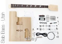 DIY Electric Bass Guitar Kit Utah Slab Advanced Bass Guitar Kit