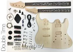 DIY Electric Guitar Kit Double Neck Guitar and Bass
