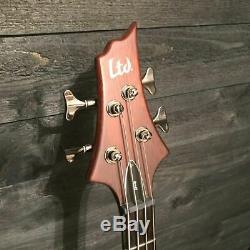 ESP LTD D-4 4 String Natural Electric Bass Guitar