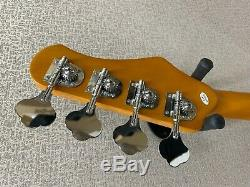 Effin EJB/MRD/LH Met. Red Left Handed Jazz Style 4-String Electric Bass Guitar