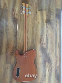 Eko short scale semi acoustic bass guitar