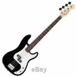 Electric Bass Guitar Black Preci PB-Style Pack Amplifier Combo Strap Bag String
