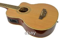 Electro Acoustic 4 String Bass Guitar with Built in Pre-Amp by Bryce Music